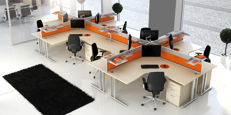 The definitive guide to office design planning small for Office desk layout ideas